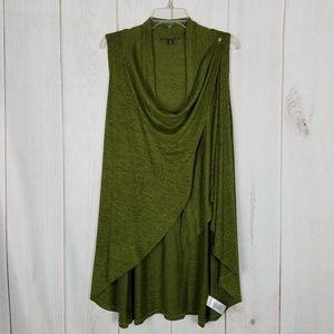 Anthro | Olivia Sky Green Sweater Cape Vest Tunic